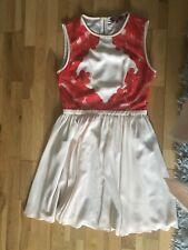Ted Baker Peach And Orange Skater Dress Size 2 10