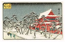 1930's Japan Japanese Woodblock Wood Block Print Vintage Old Antique item #10