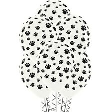ANIMAL PUPPY DOG CAT KITTEN PARTY PAW PRINT LATEX BALLOONS PACK OF 12