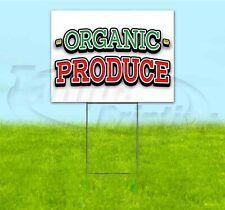ORGANIC PRODUCE 18x24 Yard Sign WITH STAKE Corrugated Bandit USA BUSINESS FOOD