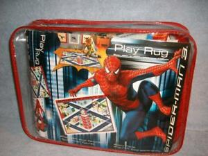 "Spider-Man 3 Play Rug in the City with printed Sandman Venom 40""x52"" Marvel New"