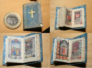 Dolls House Readable Book - Book of Hours - 36 pages! 12th Scale - Tudor