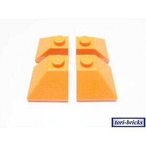 Lego Dachstein / Slope 45 2x2 orange 4 Stück »NEU« # 3045