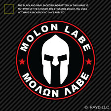 Molon Labe Red Circle Sticker Decal Self Adhesive Vinyl Come Take Them 2A v4c