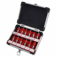 CT0505 12PC TCT 1/2 Inch Shank Router Bit Set In Strong Aluminium Storage