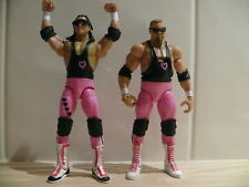 WWE MATTEL ELITE FLASHBACK THE HART FOUNDATION BRET & THE ANVIL WRESTLING FIGURE