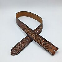 6615 Men/'s 3-D Mahogany Western Brown Leather Belt NEW