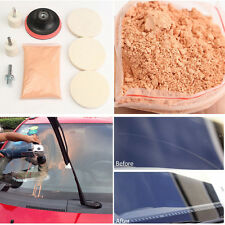Car Windshield Glass Repair Kit Scratch Removal Set + Polish Powder Felt Wheel