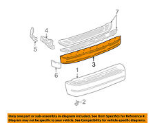 GM OEM Rear Bumper-Face Bar 15704942