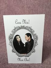 Handmade Addams family Morticia and Gomez Greeting Card - Halloween