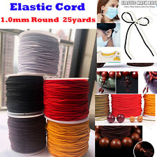 1 Roll Elastic string for Bracelets,Necklace,Beadin g and Sewing 25Yard 1mm Round