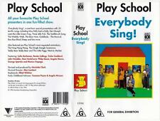 PLAY SCHOOL - EVERYBODY SING!  *RARE VHS TAPES*.  ABC VIDEO