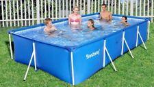Bestway 56405 Frame Pool Stahlrohrbecken 400x211x81cm Family Schwimmbecken Neu