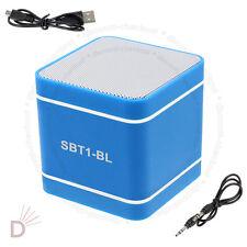 Mini Blue 300mAh Speaker Wireless Bluetooth 3.0 Hands-Free For PC Phone's UKDC