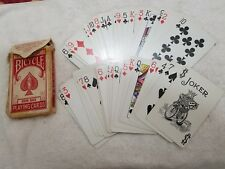 Vintage Bicycle 808 Jumbo Size Rider Back Playing Cards #808 (Pre-Owned) USA