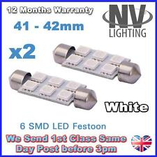 2 X LAMPADINE LED T10 SILURO T10 41MM 42MM - 6SMD - 5050 6 SMD BIANCO