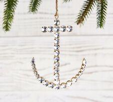 Pottery Barn Jewel Anchor Ornament 3.5 L x 4.5 W Nautical Coastal Christmas Tree