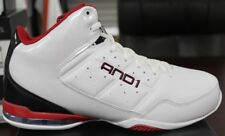 Men's AND1 Basketball Sneakers Master Mid White Black Red D1060MWBR