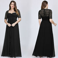 US Ever-Pretty Floral Lace Formal Long Evening Prom Gowns Cocktail Party Dresses