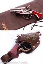RQ-BL Steampunk Vintage Feuerzeug Waffe Holster Pistole Gothic LARP Toy Gun GS02