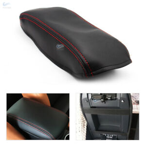 Black Center Armrest Storage Box Leather Cover For Honda Civic 9th Gen 2012-2015
