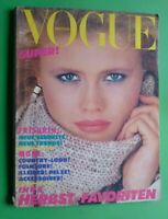 Vogue Deutsch Germany September 1981 Eva Johnson Furs Pelze Fur Magazine 9/81