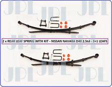 New Pair Rear Leaf Spring Kit For Nissan Navara D40 Pick Up 2.5DCi (05/2005+)