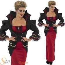 Disfraces de mujer de poliéster de color principal rojo de vampiros