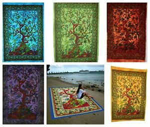 Large Tree of Life Wall Hanging Tapestry Cotton Wall Art Decor Table Bed Cover