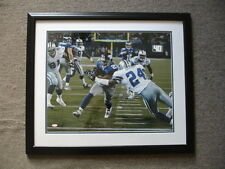 Tiki Barber #21 Autographed & Framed Photograph – 22.5″ x 26.5″ – Steiner COA