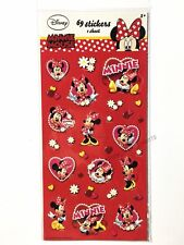 DISNEY MINNIE MOUSE PARTY STICKERS 1 SHEET 69PK BIRTHDAY FAVOUR BAG FILLER GIRLS