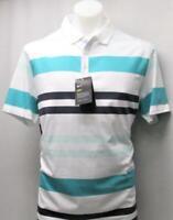 New Mens Large Nike Dri Fit Multi Coloured Striped golf polo shirt NWT
