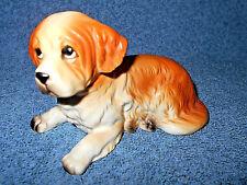 """Vintage Lefton 4 3/4"""" Ceramic Porcelain Saint Bernard Puppy Dog Figurine H7856"""