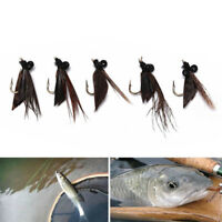 5pcs various dry fly hooks fishing trout flies hook lures tackle too liBCDE