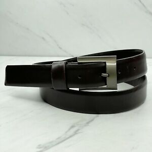 Kenneth Cole New York Brown Genuine Leather Belt Size 38
