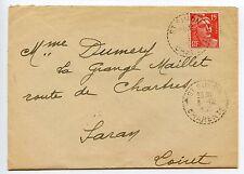 LETTRE TYPE GANDON SAINT SIMON CHARENTE / SARAN LOIRET 1951