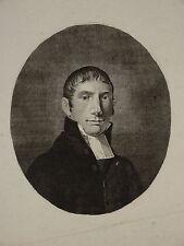 Gravure Eau Forte PORTRAIT HOMME EPOQUE EMPIRE MAGISTRAT AVOCAT JUSTICE 1810