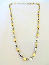 Unisex Stainless Steel and Gold Plated Open Links Chain  24 Inches Long