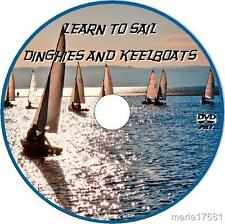 LEARN BASICS HOW TO SAIL SMALL BOATS KEELBOATS DINGHIES BEGINNER GUIDE VIDEO DVD