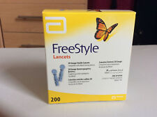 Abbott Freestyle Lancets Lite 28 Gauge Box of 200 **BRAND NEW & SEALED**