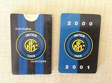 INTER F.C.  CALCIO 2 CALENDARIETTI CAMPIONATO 2000/01 2002/03 PIEGHEVOLI