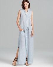 SZ XS Vince Star Print Silk Button Front Maxi Dress Full Length
