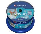 Verbatim CD-R 700MB 52x Speed 80min Inkjet Printable Disc Spindle Pack 50 (43438