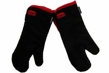 Cuisinart Embroidered Bbq Oven Mitts, Heat Resistant Oven Gloves Grey/Black