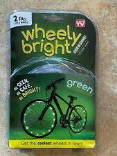 JML Wheely Bright 20 LED Bike Lights Green 2 pack As Seen On TV WBGRN024