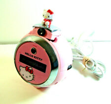 Hello Kitty KT2054 Pink LED Projector Alarm Clock AM FM Radio