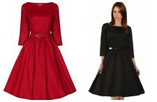 LINDY Bop Retro Vintage 50s Abigail DK Vanilla Wedding Bridesmaid Dress 6 to 24 14