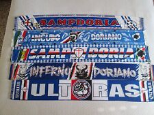 lotto 5 sciarpe SAMPDORIA FC club football calcio scarf bufanda echarpe lot c