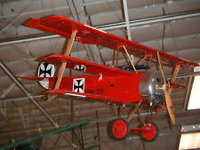"Fokker Dr1 ""Red Baron"" Wwi 73"" Giant Scale Airplane Aviation"