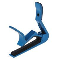 1X(Capodastre Capo Pince Metal Metallique Bleu pour Guitare Guitar R1A2) SC